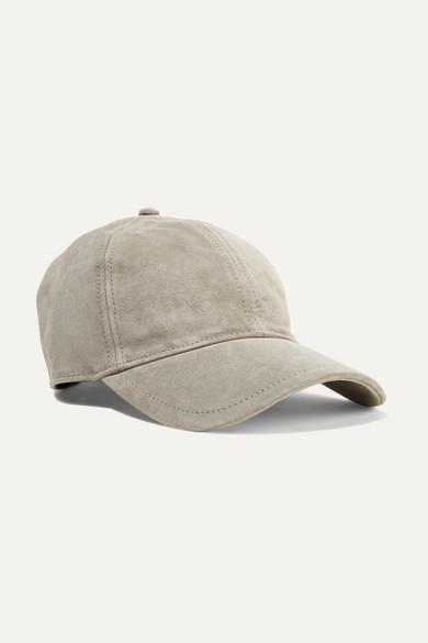 rag   bone. Marilyn leather-trimmed suede baseball cap 64d86e8d79a