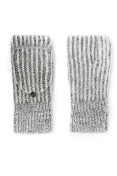 3d41977b3 rag & bone | Jonie striped ribbed-knit mittens | NET-A-PORTER.COM