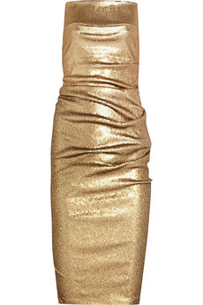 Donna Karan gold sequinned dress