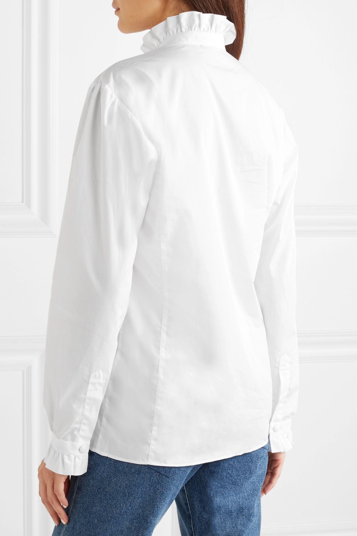 Purdey Hemd aus Baumwollpopeline mit Rüschenbesatz