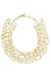 18-karat gold pearl necklace