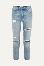 Karolina distressed high-rise skinny jeans