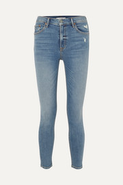 GRLFRND Kendall hoch sitzende Skinny Jeans in Distressed-Optik