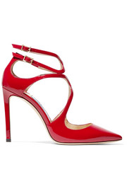 Jimmy Choo Lancer 100 Pumps aus Lackleder