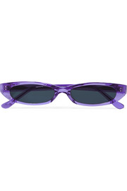 Frances oval-frame acetate sunglasses