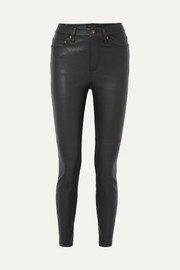 Skinny leather pants