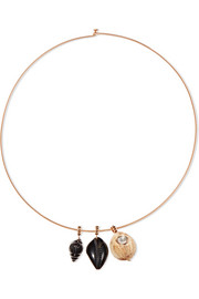 18-karat rose gold multi-stone choker