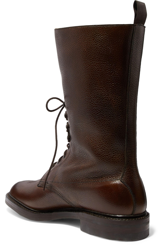 Purdey Stiefel aus strukturiertem Leder mit Schnalle