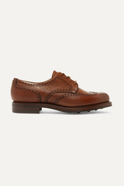 James Purdey & Sons Textured-leather brogues