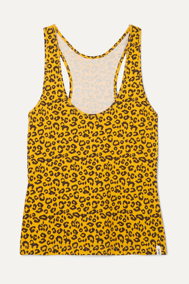 LES GIRLS LES BOYS | Les Girls Les Boys - Leopard-print Stretch-cotton Jersey Tank - Leopard print | Goxip