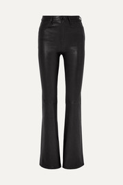 Bella leather flared pants