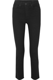 Cigarette high-rise slim-leg jeans