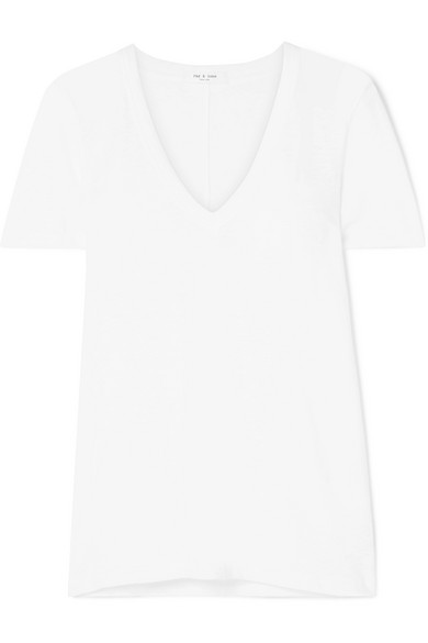 The Vee Pima Cotton Jersey T Shirt by Rag & Bone