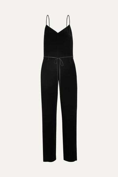 Jamie Velvet Jumpsuit - Black Size 10 from REVOLVE
