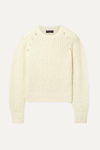 Arizona Merino Wool Sweater - White Size L in Cream