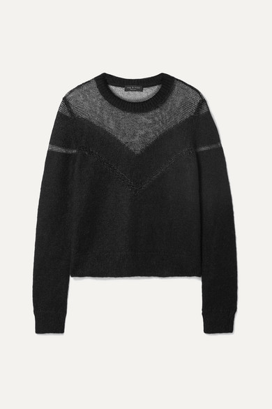 Rag And Bone Black Blaze Crewneck Sweater