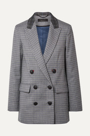 rag & bone Ellie double-breasted checked wool-blend blazer