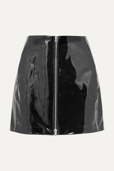 Rag And Bone Black Patent Heidi Miniskirt