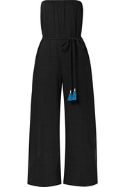 Dessa belted cotton-voile jumpsuit