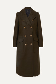 Remington double-breasted wool-blend felt coat