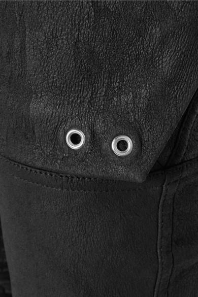 Rick Owens Pants Cotton blend-paneled leather skinny pants