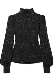 L'Agence Samara stretch-lace turtleneck top