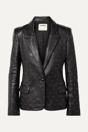 Montegoi studded leather blazer
