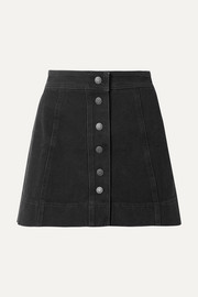 Metropolis stretch-denim mini skirt