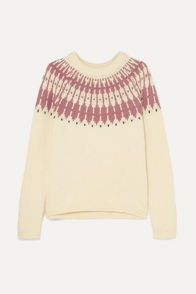 MADEWELL Fair Isle Cotton-Blend Sweater in Cream