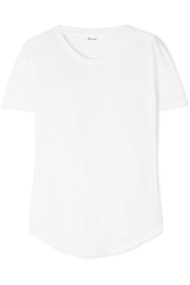 MADEWELL Whisper Slub Cotton-Jersey T-Shirt in White