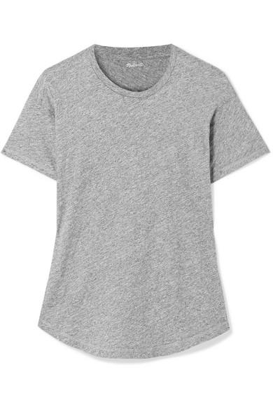 MADEWELL Whisper Slub Cotton-Jersey T-Shirt in Gray