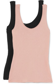 Set of two organic Pima cotton-jersey tanks