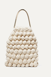 Ulla Johnson Barranco crocheted cotton and Lurex-blend tote