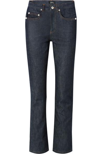 Standard High-Rise Straight-Leg Jeans in Dark Denim