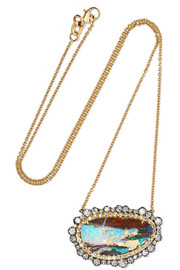 Kimberly McDonald 18-karat blackened gold, opal and diamond necklace