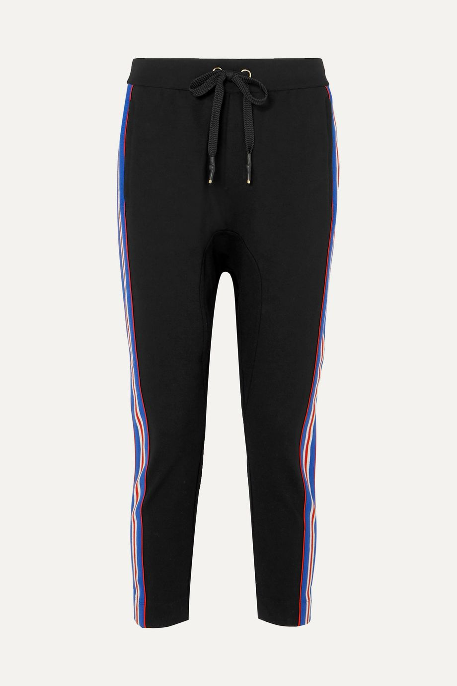 P.E NATION Court Run striped stretch-ponte track pants