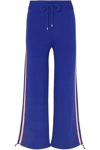 P.E NATION Salute Cobalt Stretch-Knit Sweatpants in Blue