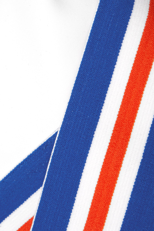 P.E NATION Full Toss Crop striped cutout stretch sports bra
