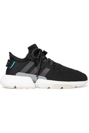 POD-S3.1 suede-trimmed stretch-knit sneakers