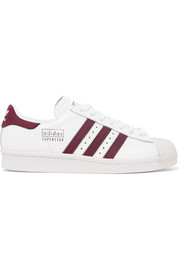 adidas Originals Superstar 80s suede-trimmed leather sneakers