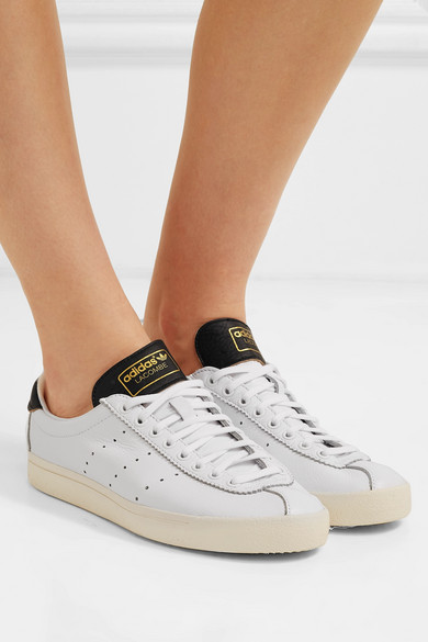 adidas Originals | Lacombe textured leather sneakers | NET A