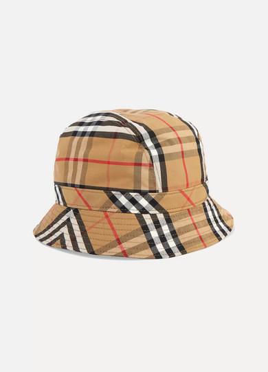 3a9a9e16d6c4c Burberry. Checked cotton-canvas bucket hat