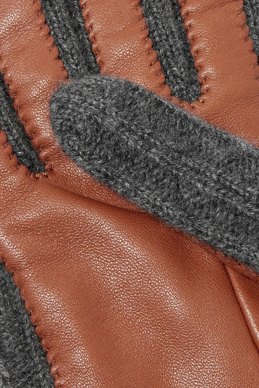 Burberry 罗纹羊绒皮革手套