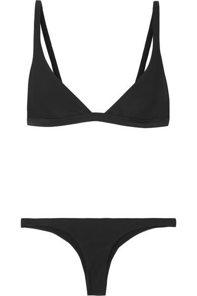 LES GIRLS, LES BOYS Classic Mini Bikini in Black