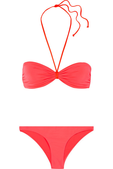 LES GIRLS, LES BOYS Straight Edge Bikini in Red