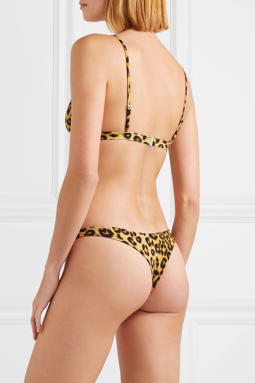 Les Girls Les Boys Leopard-print bikini