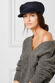 Naly wool, cashmere and cotton-blend cap