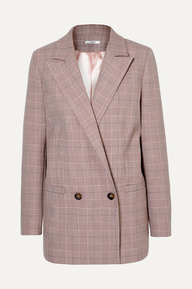 Suiting Silver Pink Plaid Jacket Pink Plaid in Blush