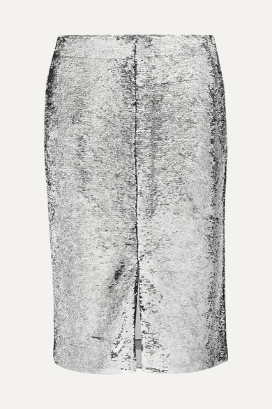 Sonora Sequinned Pencil Skirt in Silver from Liberty