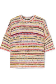 GANNI Brookhaven striped knitted sweater